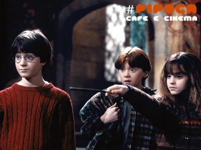 Harry Potter e a Pedra Filosofal pipoca,café e cinema